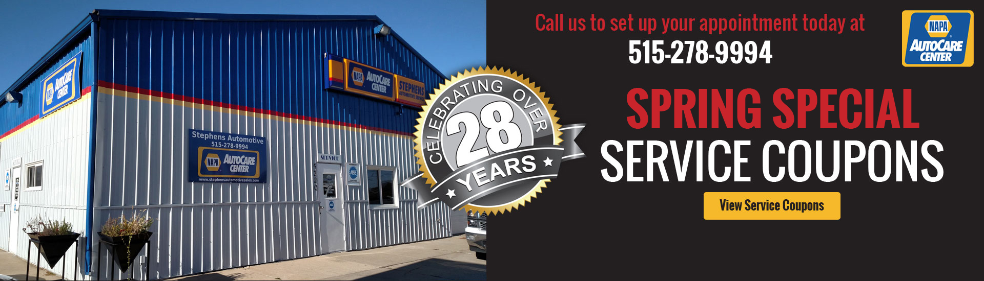 Spring Specials Service Coupons - Stephens Automotive Sales